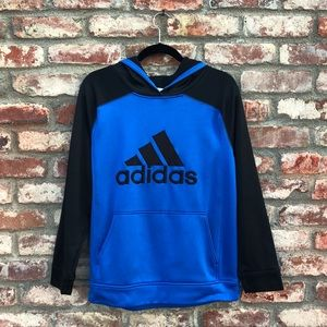 Adidas royal blue youth hoodie
